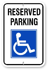2RH001 Handicap Reserved Parking Sign